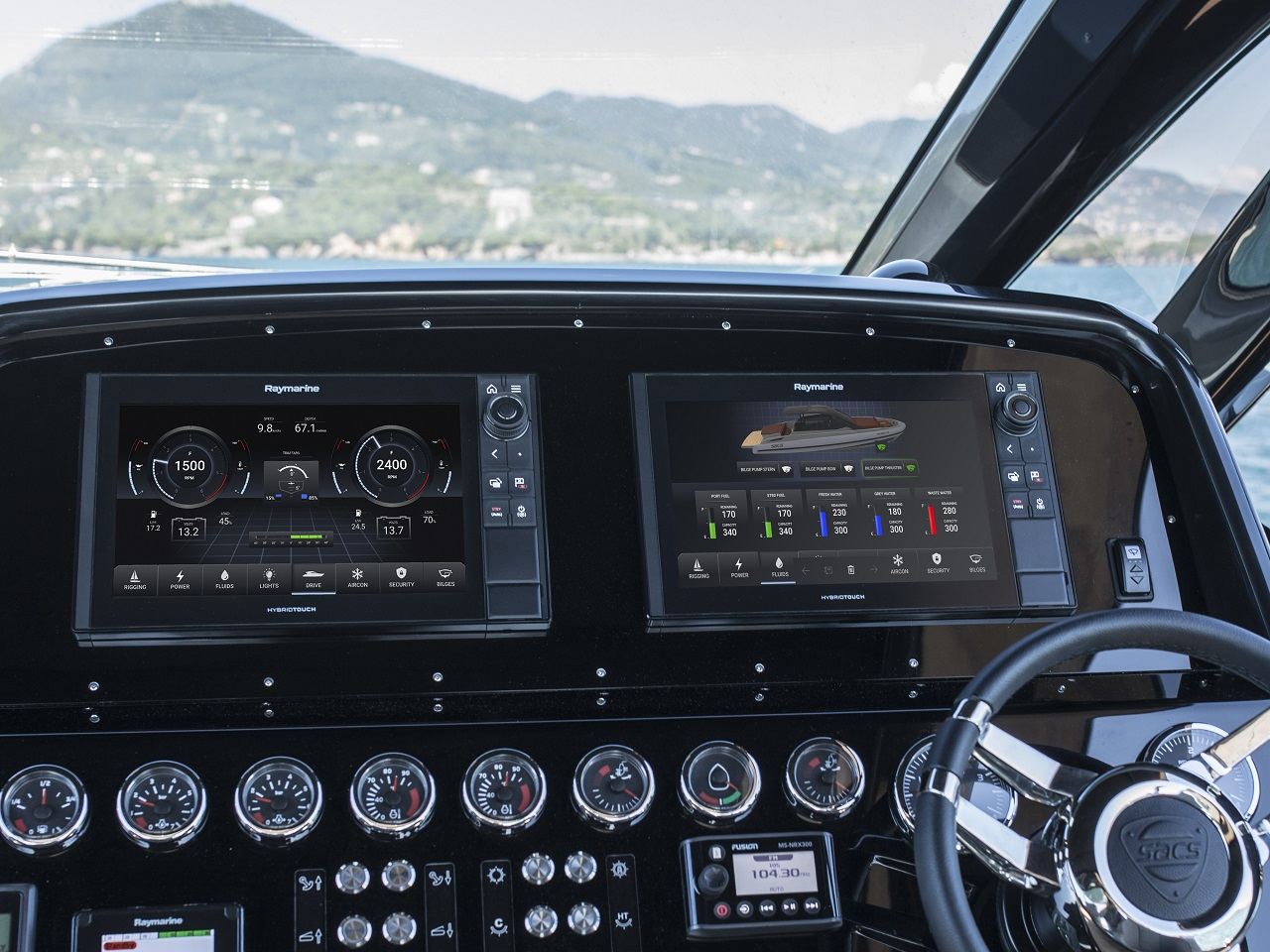 FLIR Systems Introduces Raymarine YachtSense gives you total control of the boat, in one hand